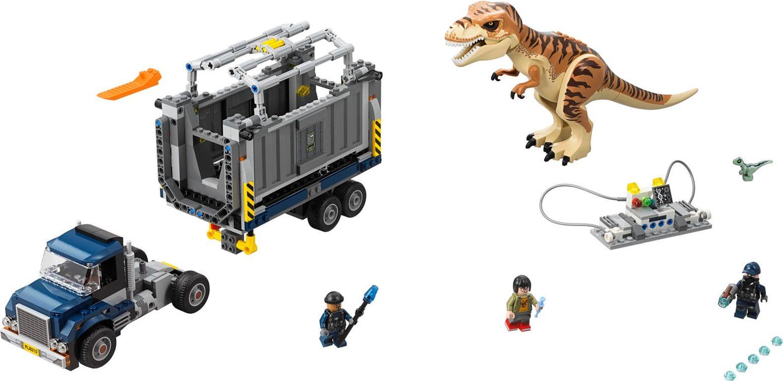 LEGO® Jurassic World T. rex Transport components
