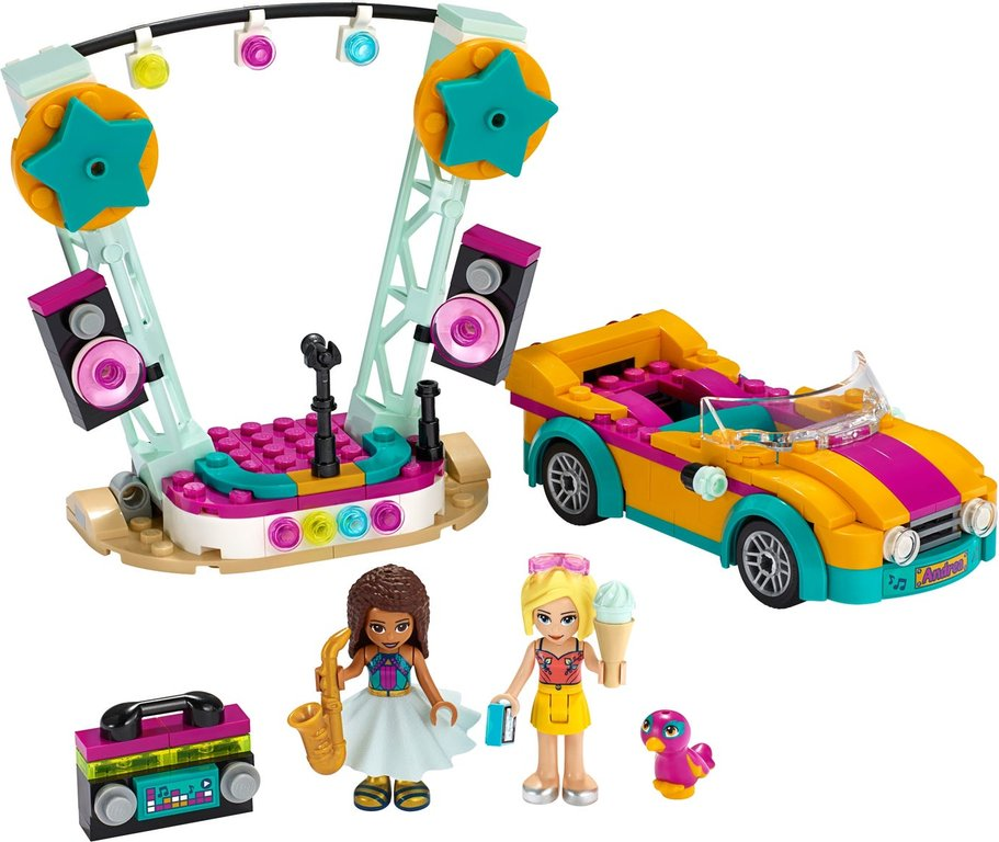 LEGO® Friends Andrea's Car & Stage components