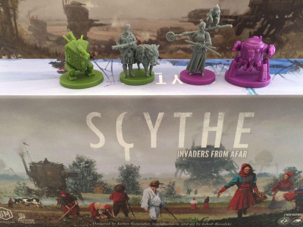 Scythe: Invaders from Afar miniatures