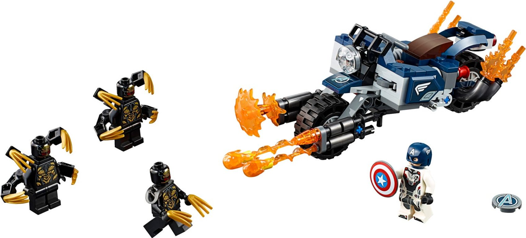 LEGO® Marvel Captain America: Outriders Attack components