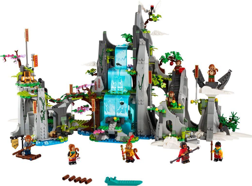 LEGO® Monkie Kid The Legendary Flower Fruit Mountain components