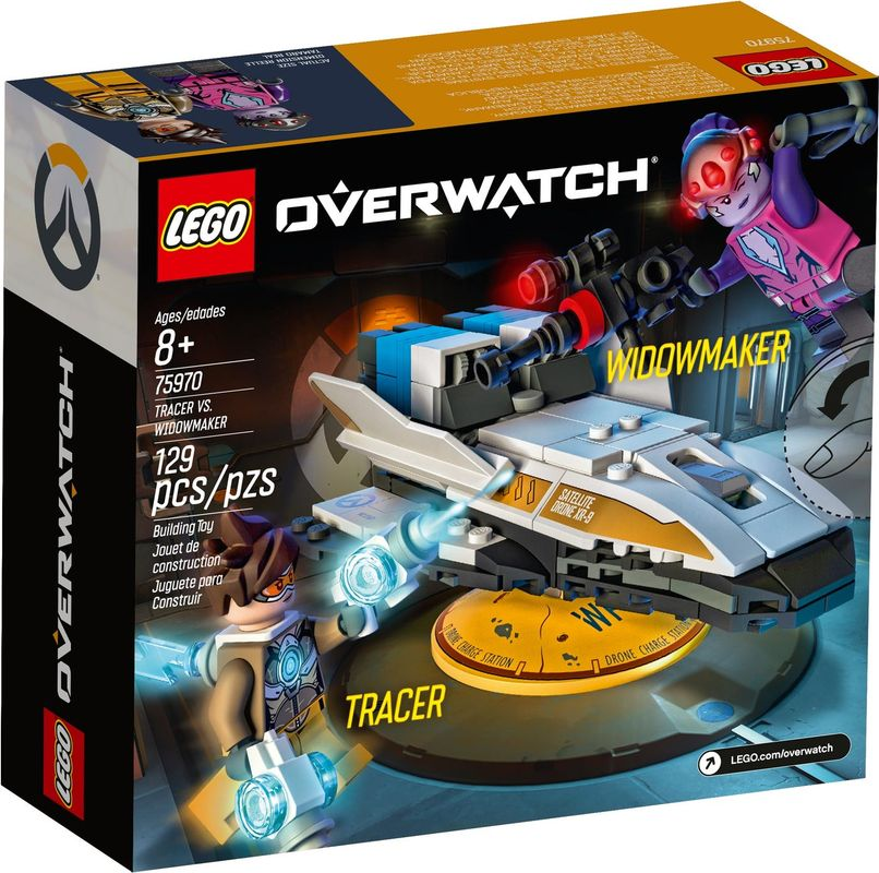 Tracer vs. Widowmaker back of the box