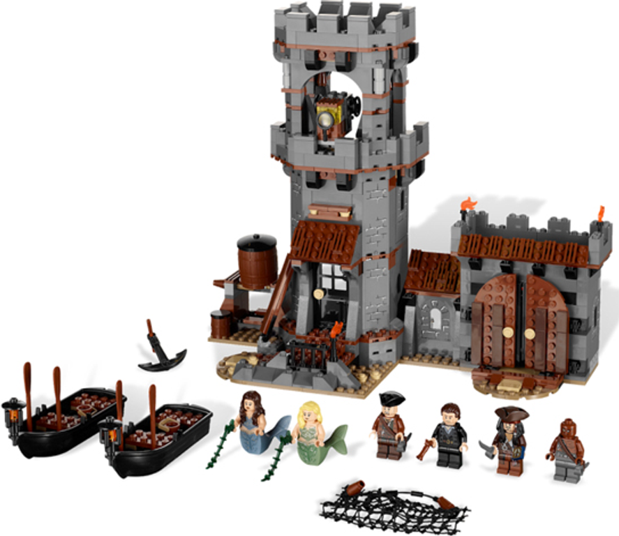 LEGO® Pirates of the Caribbean Whitecap Bay components