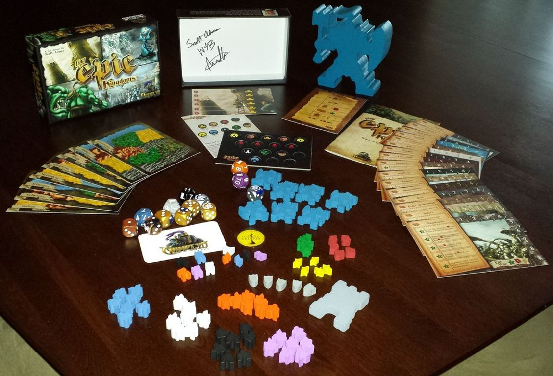 Tiny Epic Kingdoms components