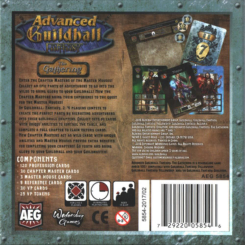 Advanced Guildhall Fantasy: The Gathering back of the box