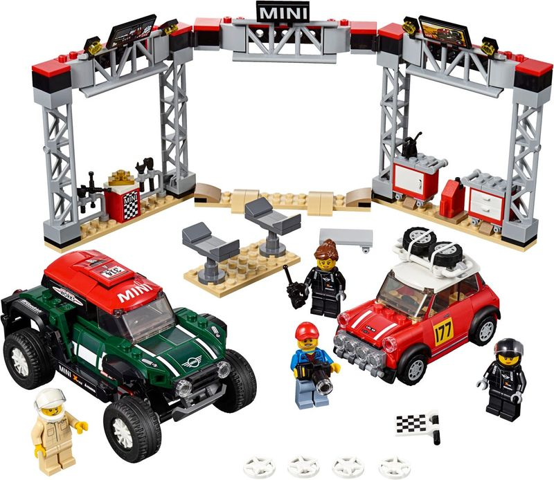LEGO® Speed Champions 1967 Mini Cooper S Rally and 2018 MINI John Cooper Works Buggy components