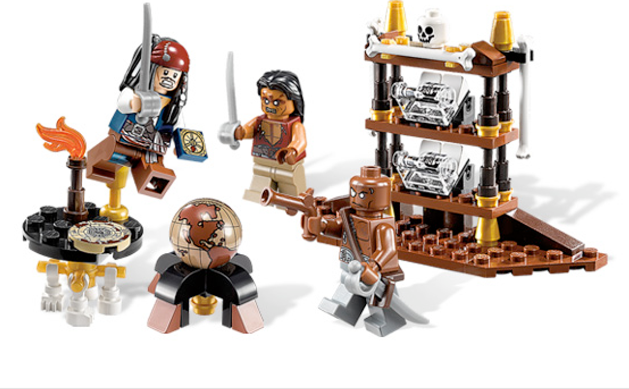 LEGO® Pirates of the Caribbean Captain's Cabin components