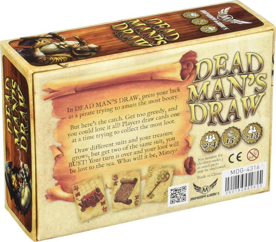 Dead Man's Draw back of the box