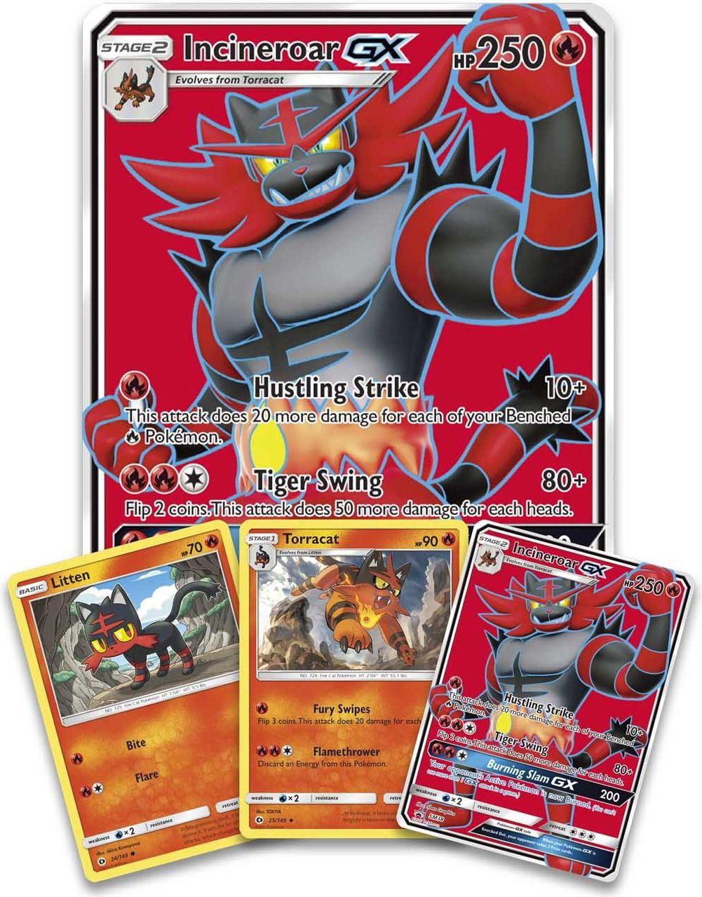 Pokémon TCG: Incineroar-GX Premium Collection cards