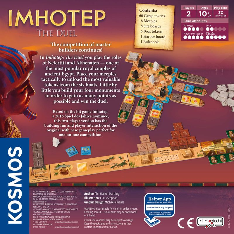 Imhotep: The Duell back of the box