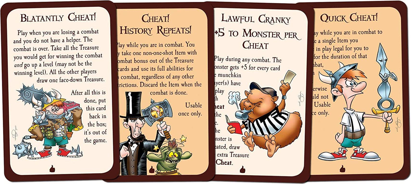 Munchkin Cheats cards