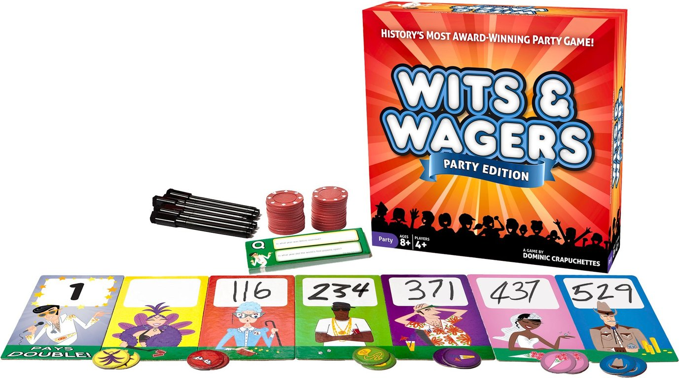 Wits & Wagers Party components