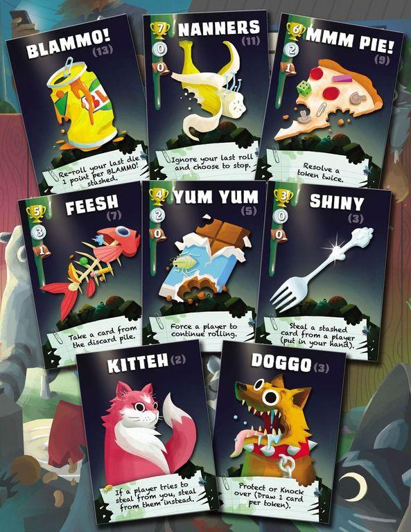 Trash Pandas cards