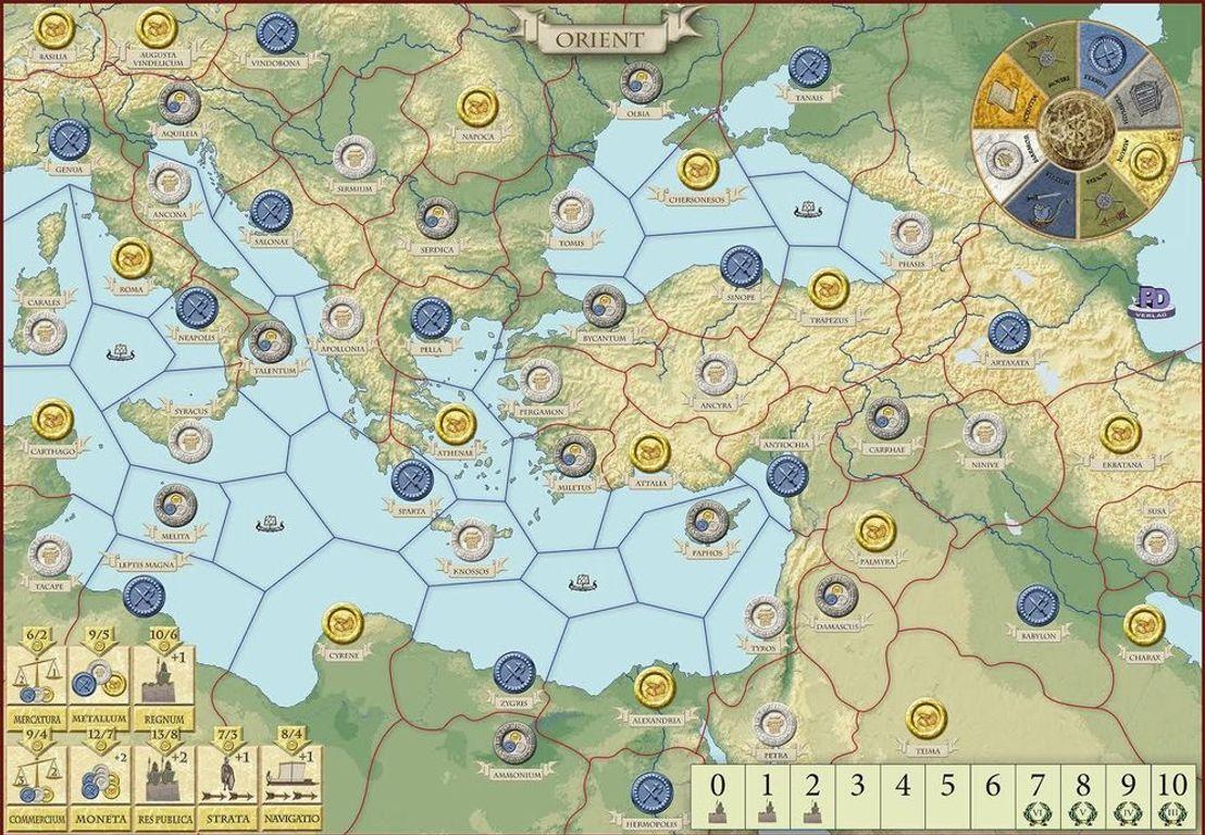 Antike II game board