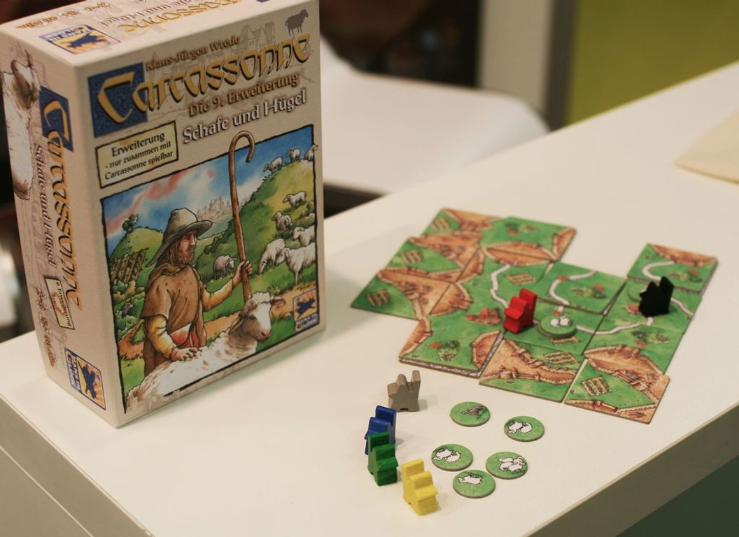 Carcassonne: Hills & Sheep components