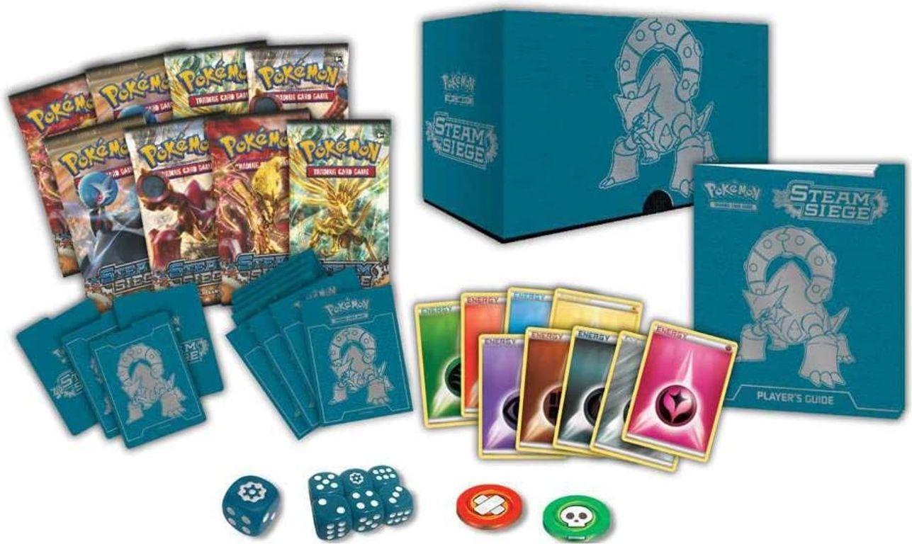 Pokémon Elite Trainer box XY11 Steam Siege components