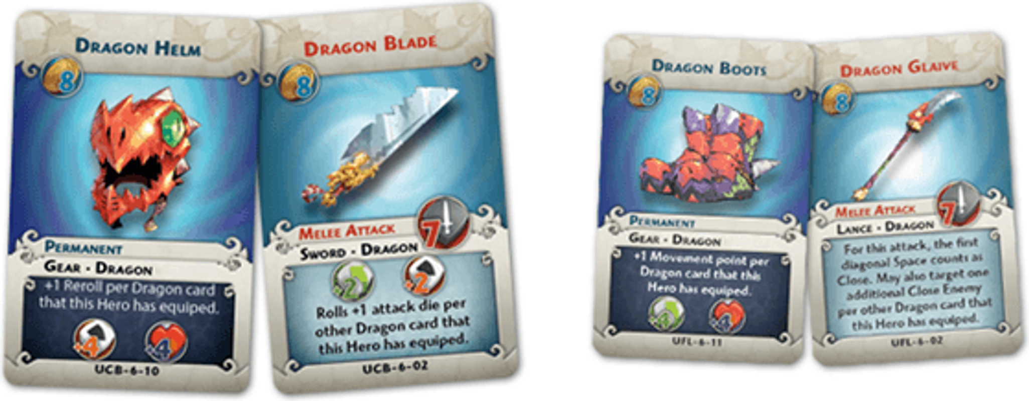 Arcadia Quest: Chaos Dragon cards