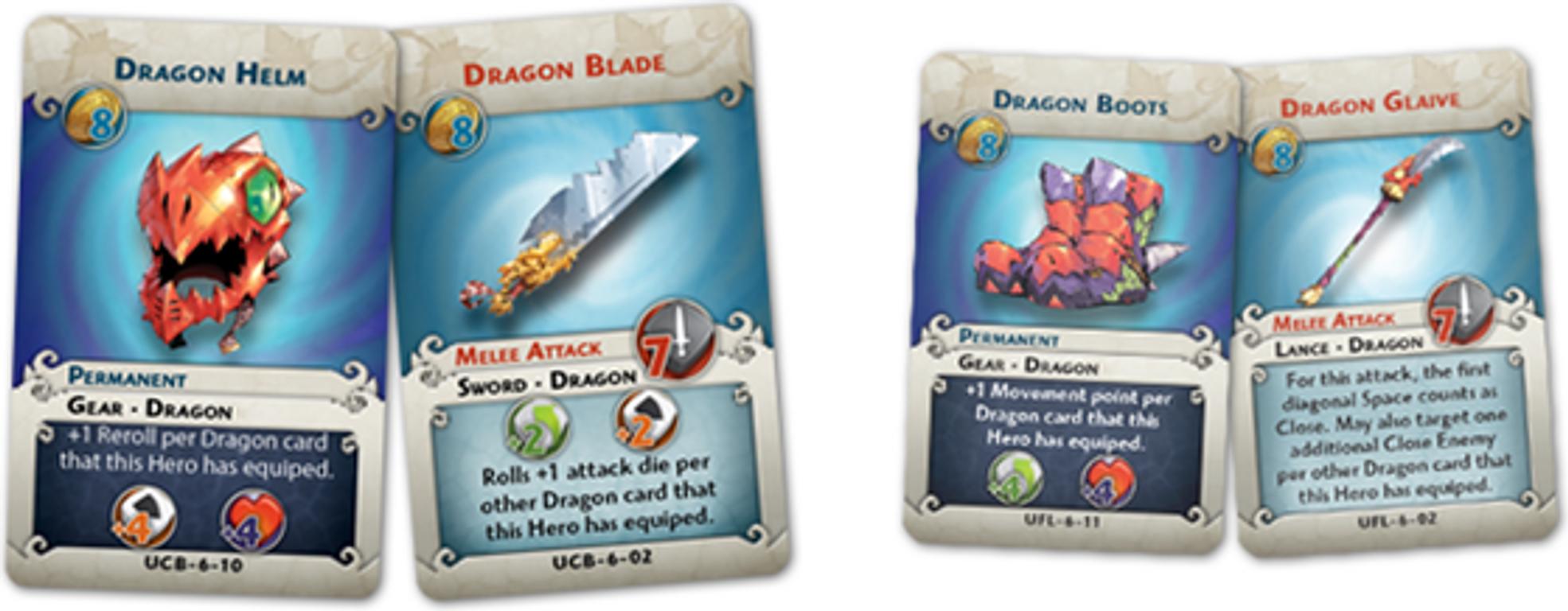 Arcadia Quest: Chaos Dragon cartas