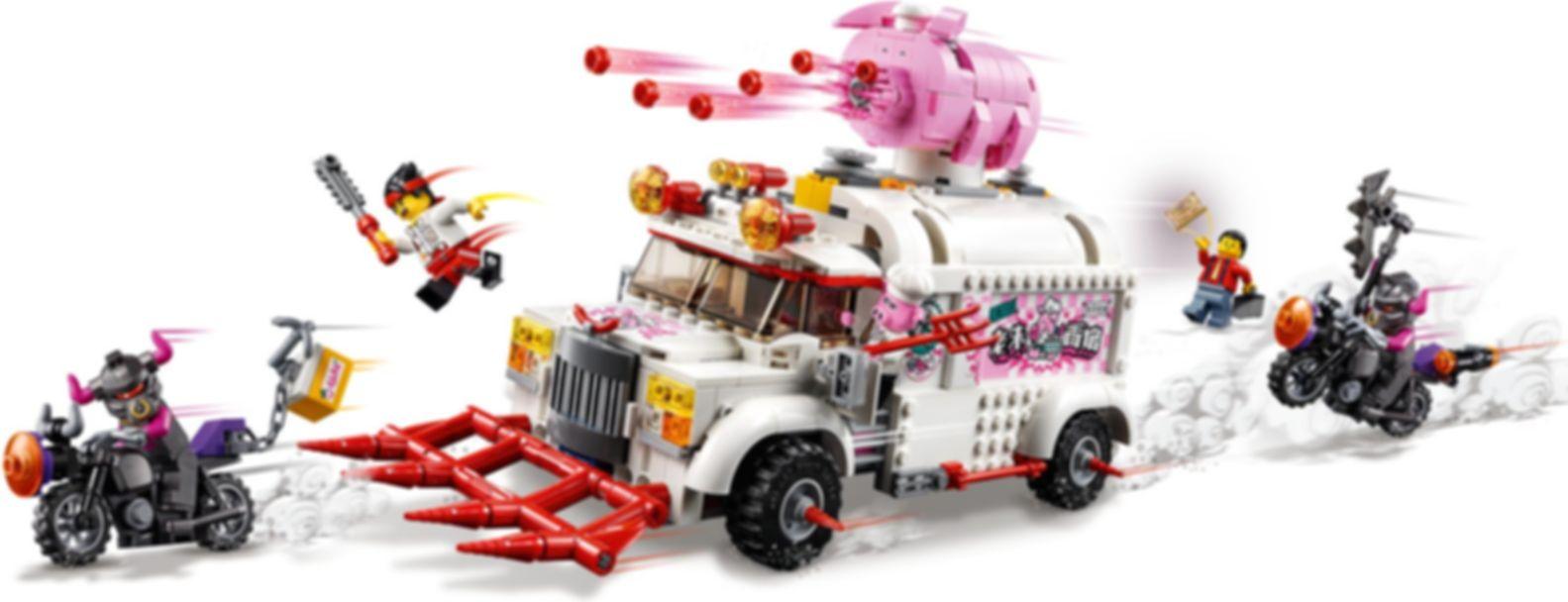LEGO® Monkie Kid Pigsy's Food Truck gameplay