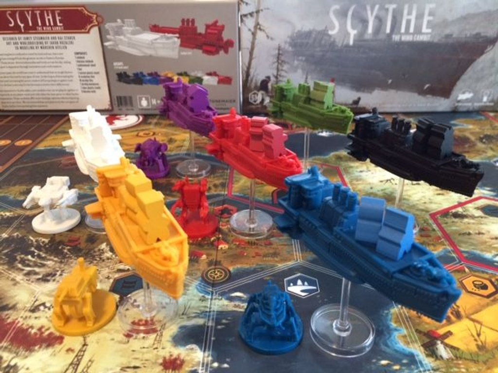 Scythe: The Wind Gambit components