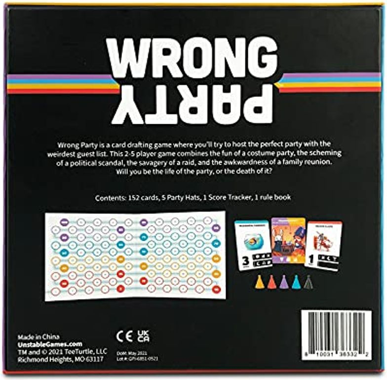 Wrong Party back of the box