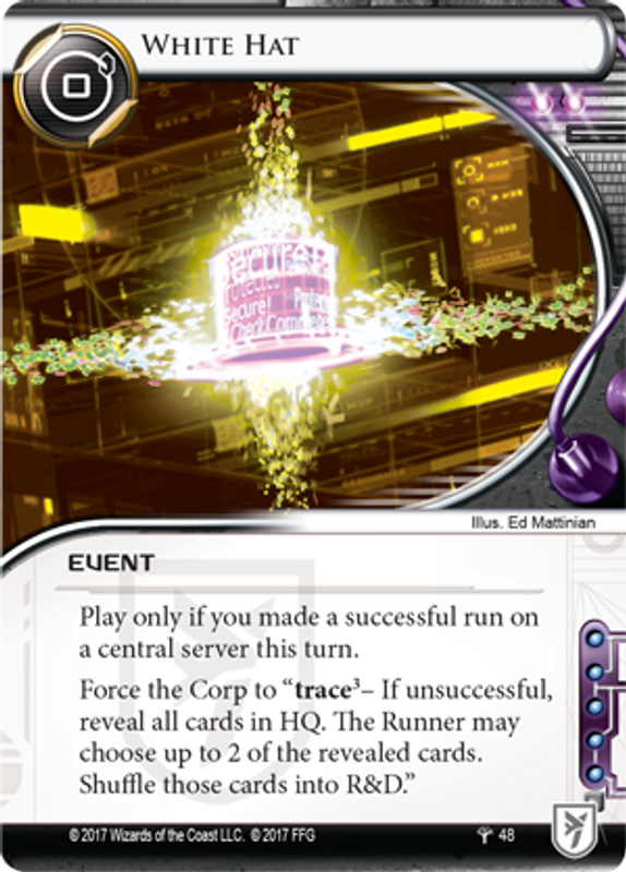 Android: Netrunner - Council of the Crest White Hat card