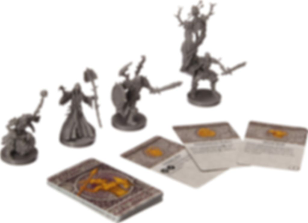 Runewars Miniatures Game: Waiqar Infantry Command - Unit Upgrade Expansion components