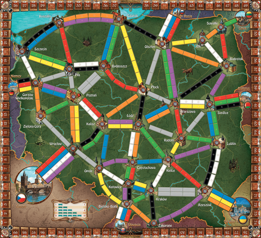 Ticket to Ride : Polska spelbord
