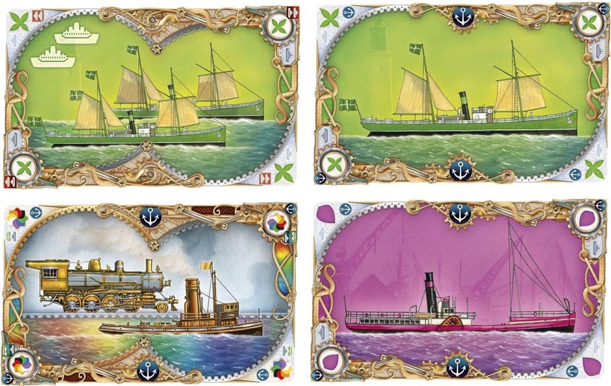 Ticket to Ride: Rails & Sails kaarten