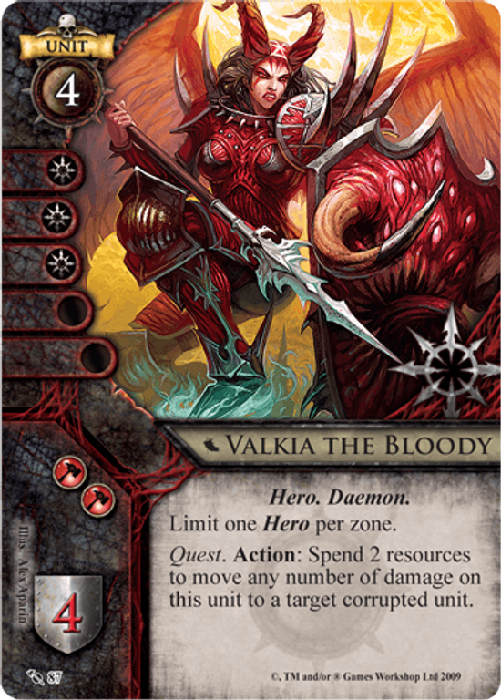 Warhammer: Invasion Valkia The Bloody card