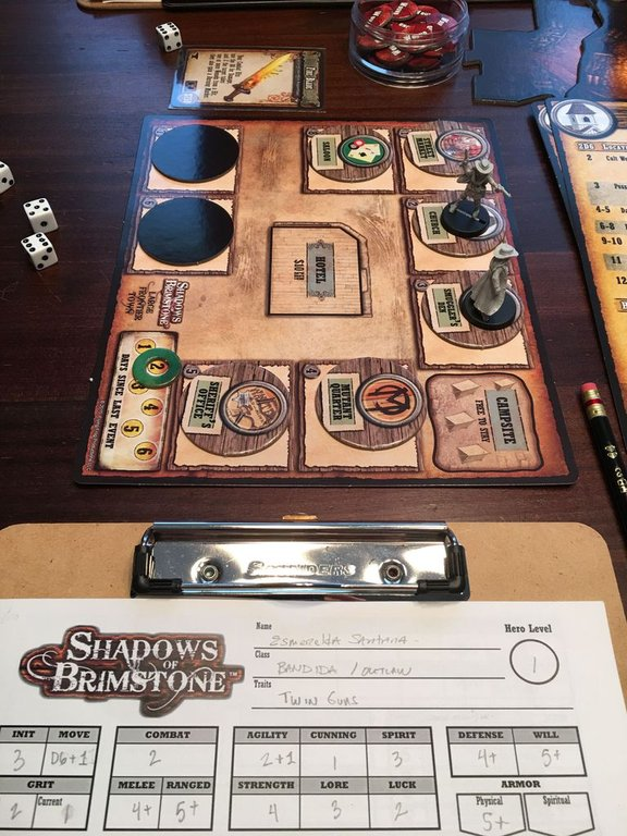 Shadows of Brimstone: Frontier Town Expansion gameplay