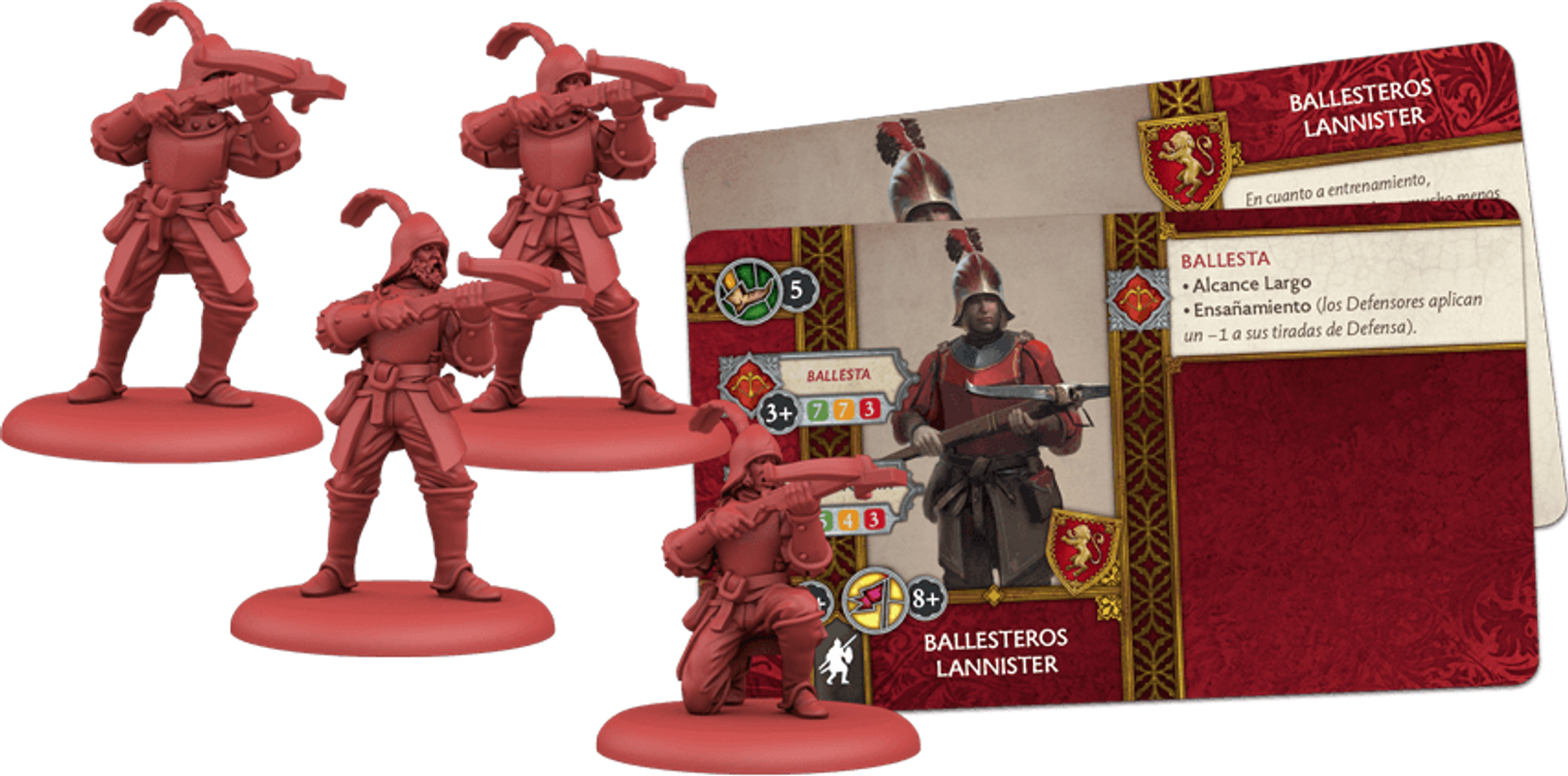 A Song of Ice & Fire: Tabletop Miniatures Game - Lannister Crossbowmen components