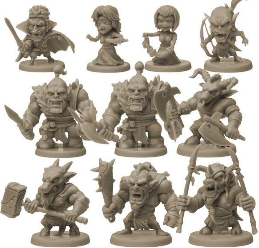 Arcadia Quest miniatures