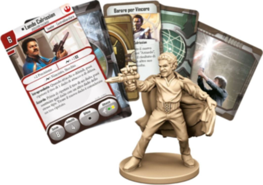 Star Wars: Imperial Assault - Lando Calrissian Ally Pack components