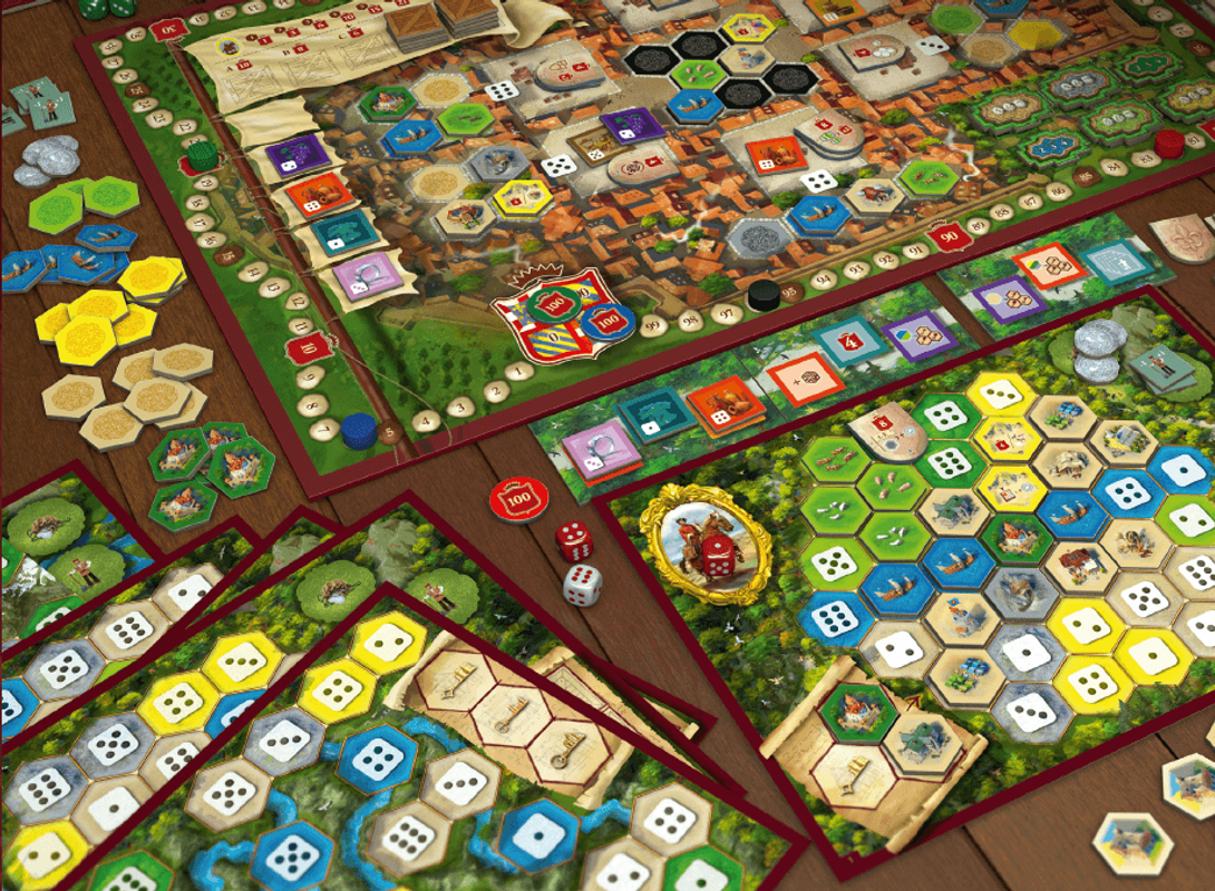 The Castles of Burgundy (20th Anniversary) components