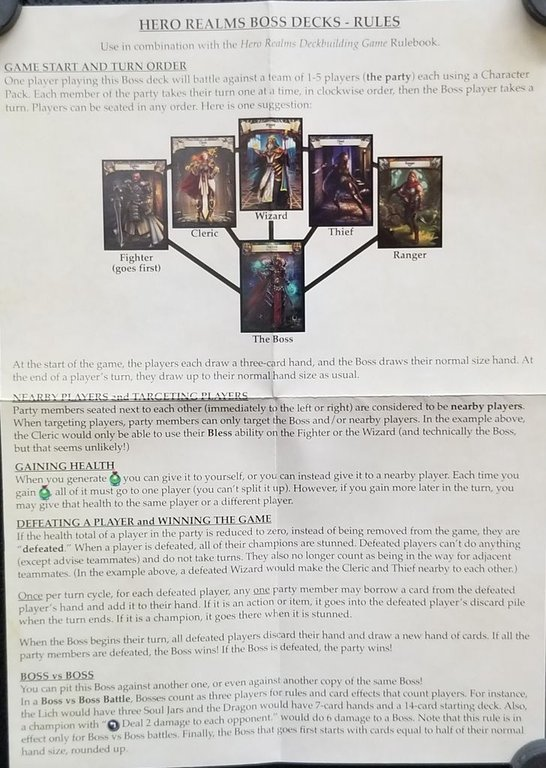 Hero Realms: Boss Deck - The Dragon manual