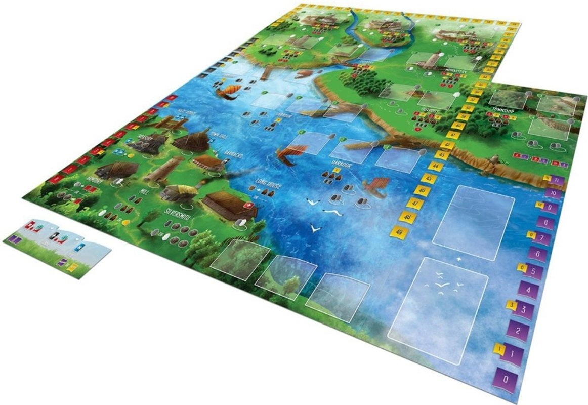 Raiders of the North Sea: Fields of Fame game board