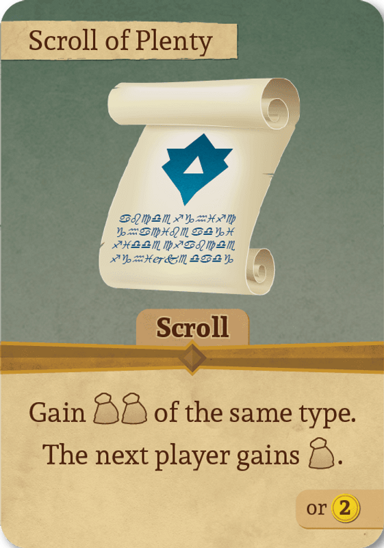 The King's Guild Scroll of plenty card
