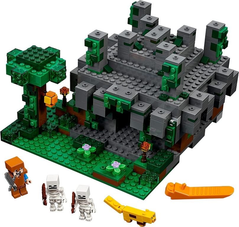 LEGO® Minecraft The Jungle Temple components