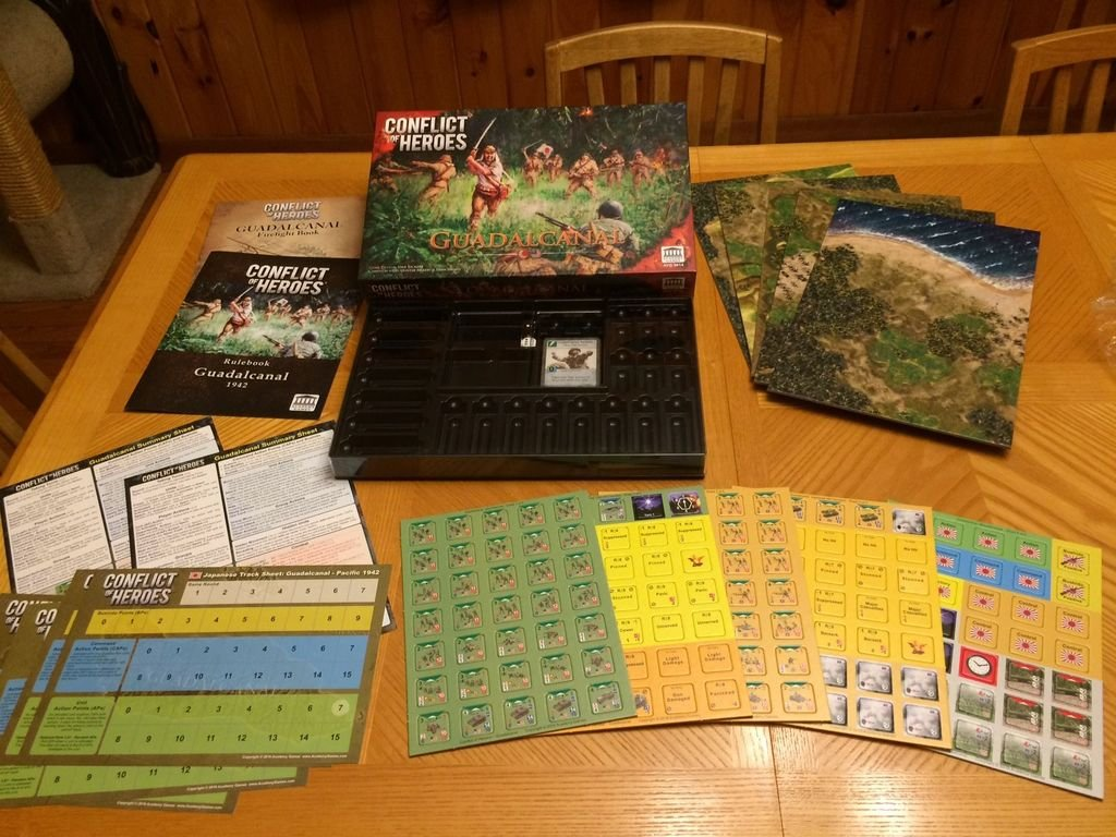Conflict of Heroes: Guadalcanal components