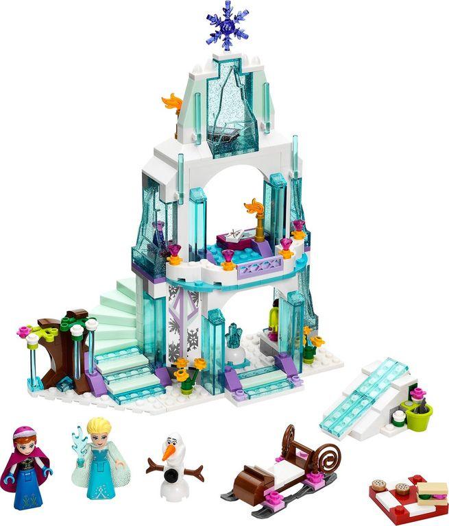 LEGO® Disney Elsa's Sparkling Ice Castle components