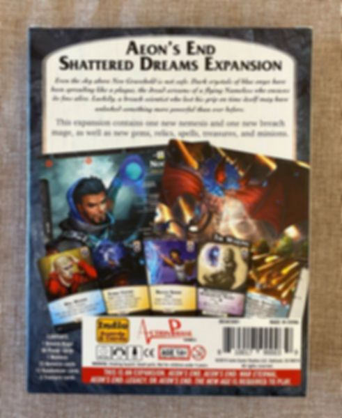 Aeon's End: Shattered Dreams back of the box