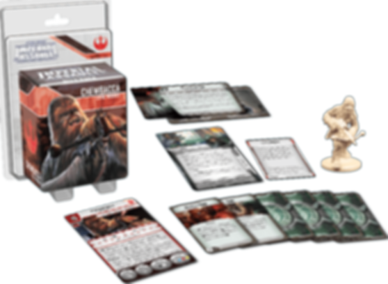 Star Wars: Imperial Assault - Chewbacca Ally Pack components