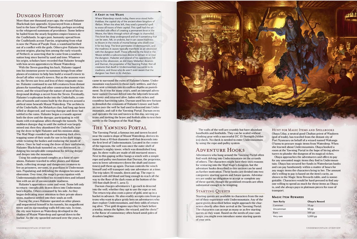 D&D Waterdeep Dungeon of the Mad Mage (D&D Adventure) manual