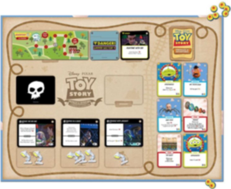Toy Story: Obstacles & Adventures game board