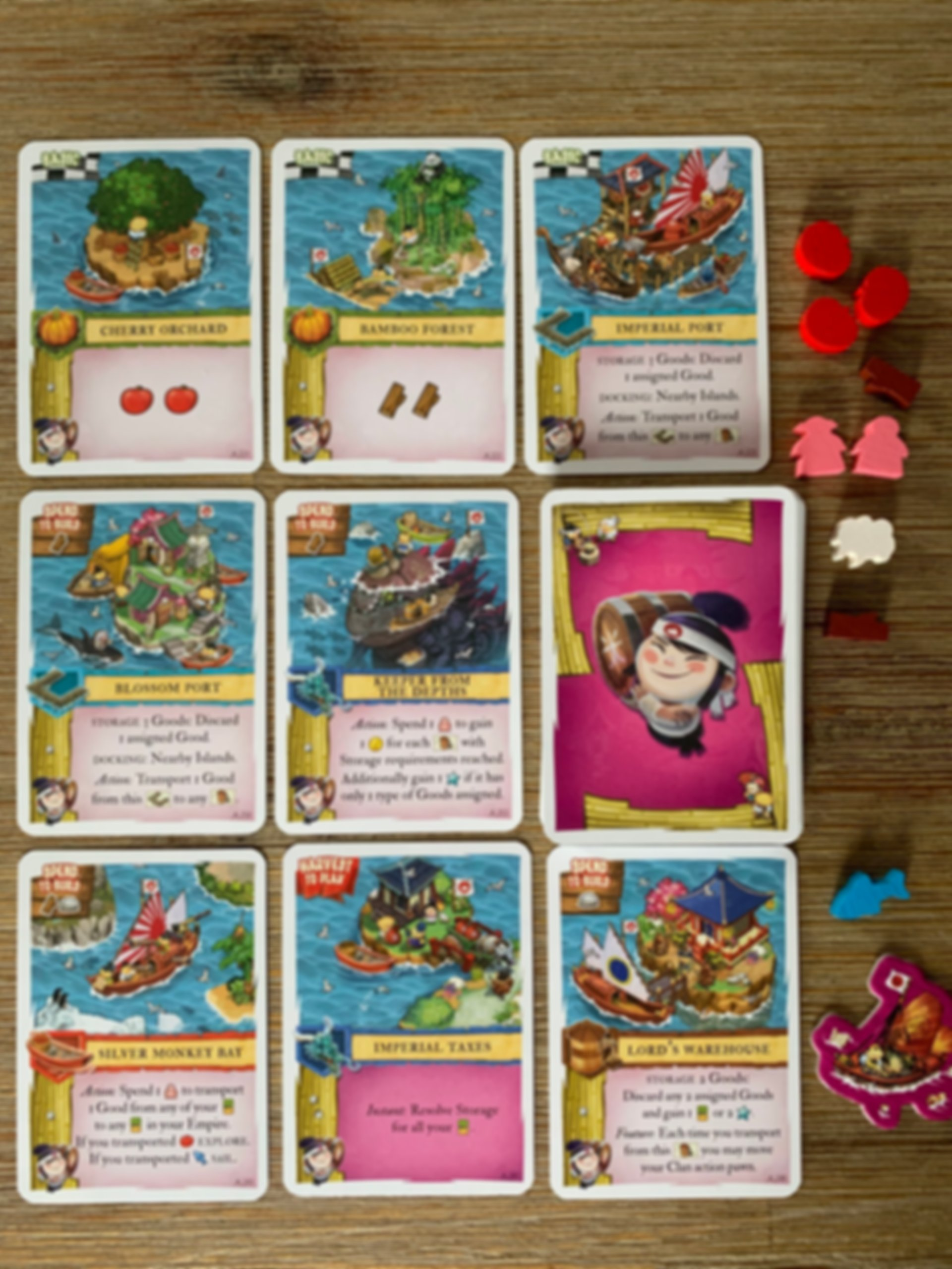 Imperial Settlers: Empires of the North - Japanese Islands components