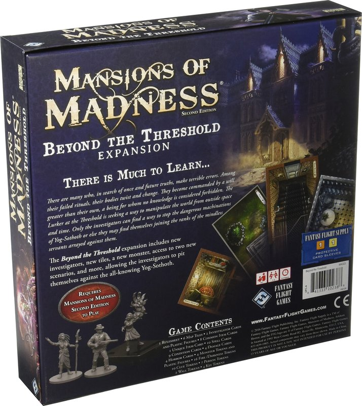 Mansions of Madness: Second Edition - Beyond the Threshold back of the box