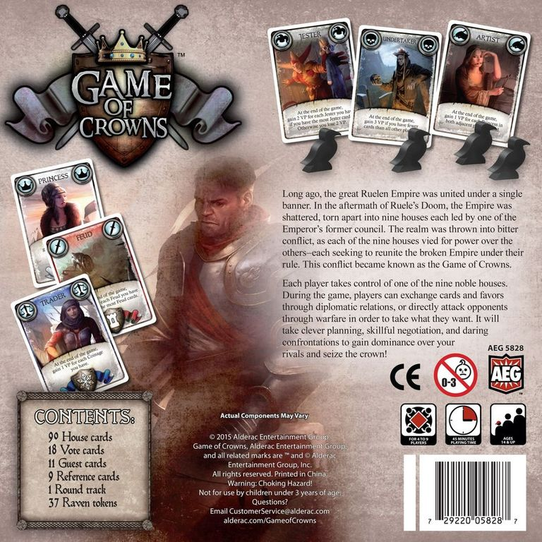 Game of Crowns back of the box