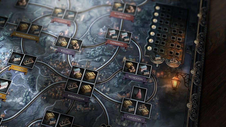 Brass: Birmingham game board