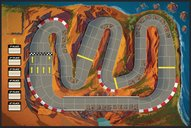 Downforce: Danger Circuit game board